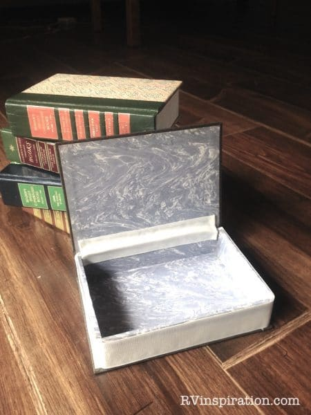 Memory boxes made from Readers Digest Condensed books