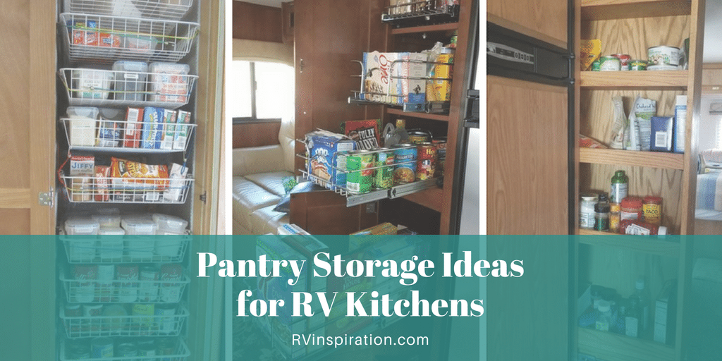 Storage and organization ideas for #RV kitchen pantry cabinets | #motorhome #camper #traveltrailer