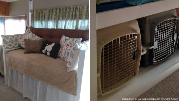 Dog Crates under Daybed by Judy Acker