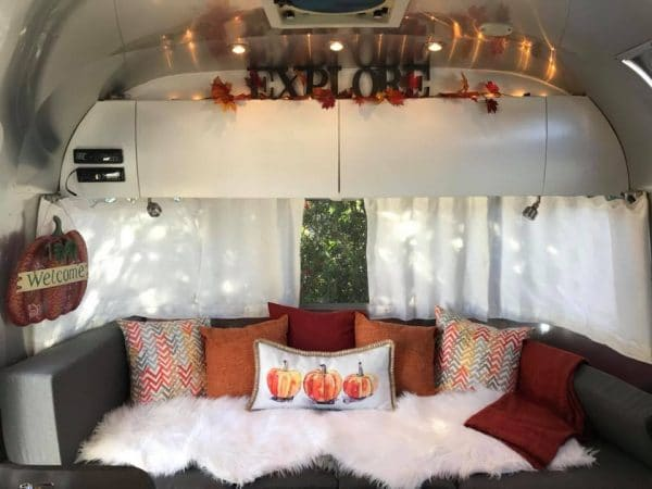 Airstream decorating ideas for fall by Laurie Glynn