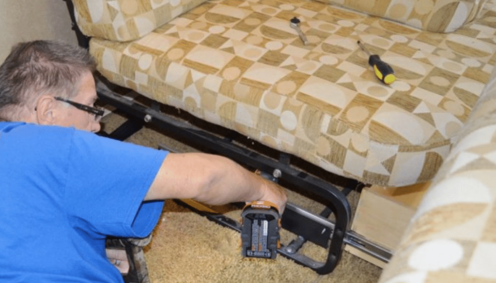 See How Easy it is to Remove a Jackknife RV Sofa