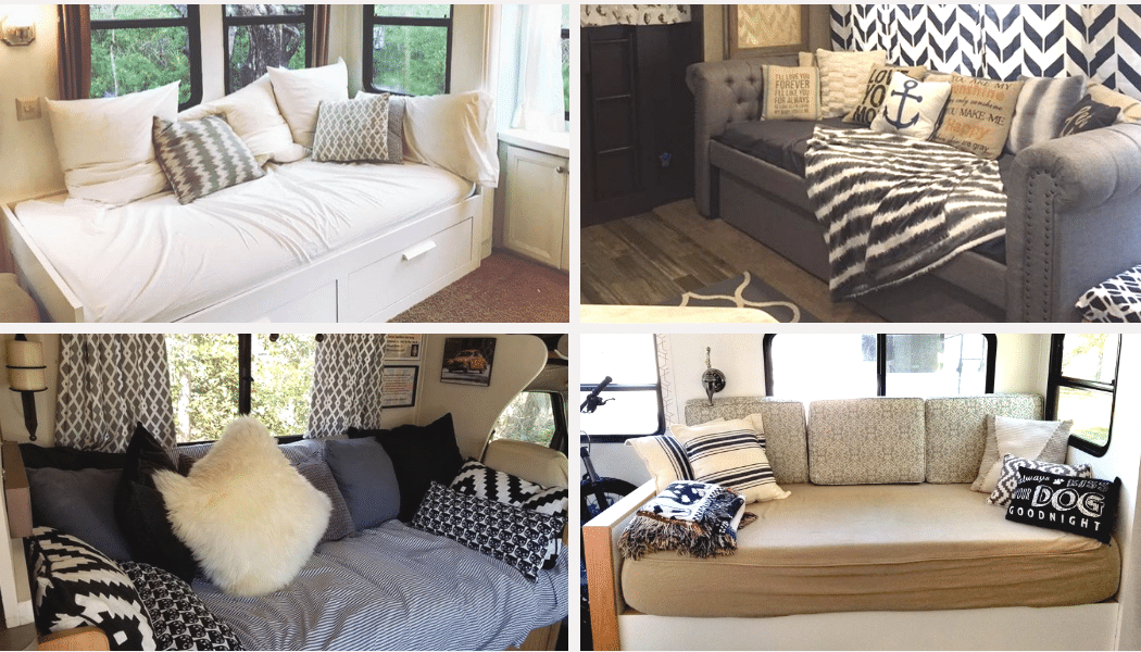 Rv Sofa Bed Replacement Ideas With, Queen Bed Couch Ideas