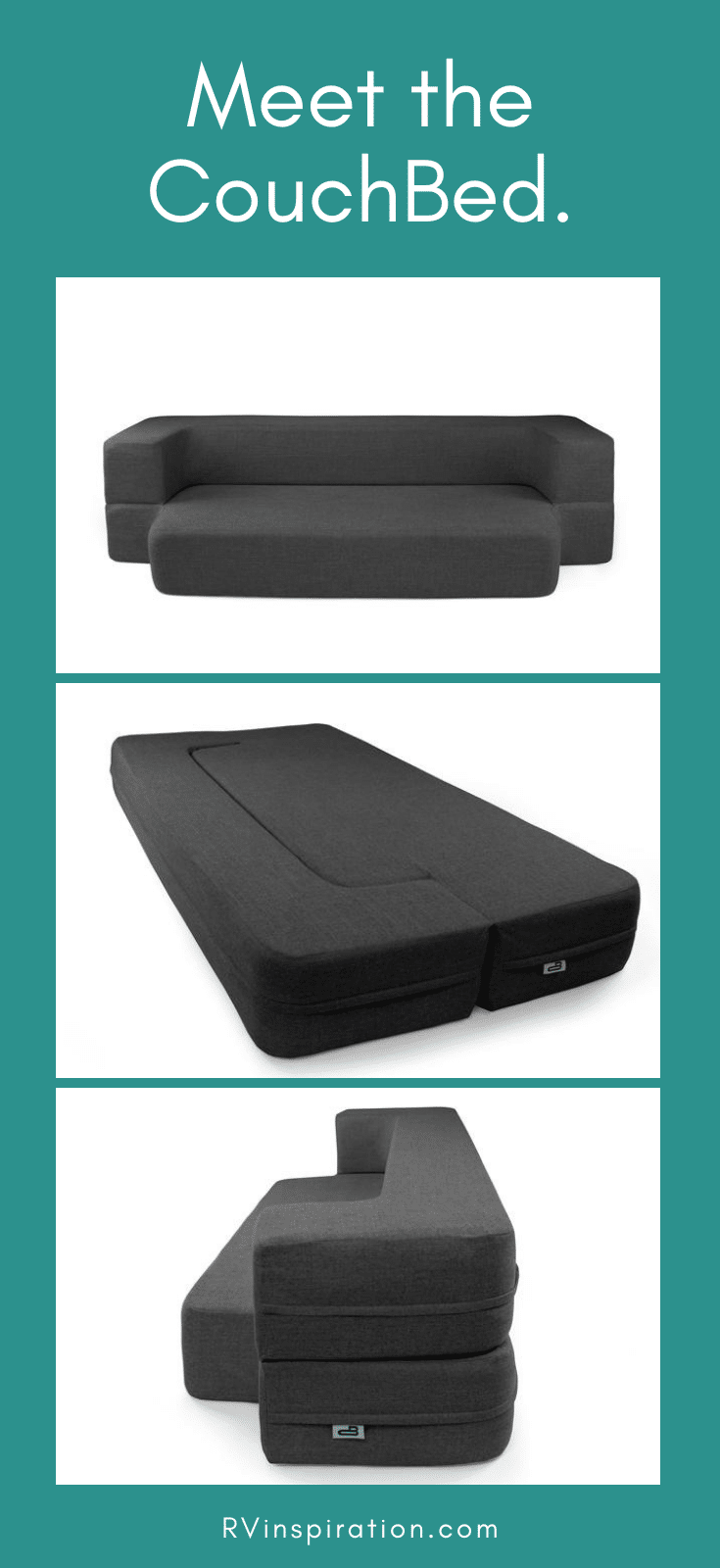 CouchBed is a folding memory foam mattress perfect for your DIY RV sofa bed. | Couchbed.com