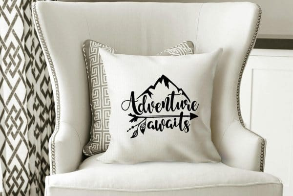 Adventure Awaits pillow by SimplyCrafty2010 on Etsy