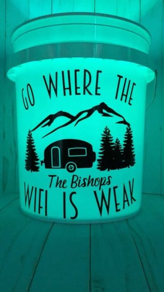 LED Camping Bucket Light by SaltyPeachCo on Etsy