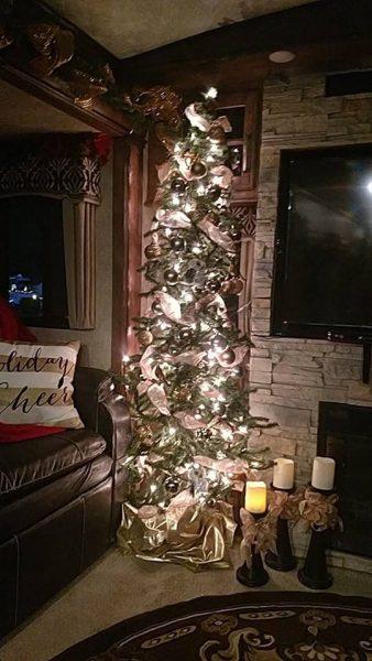 Vicki Garcia Christmas tree in fifth wheel