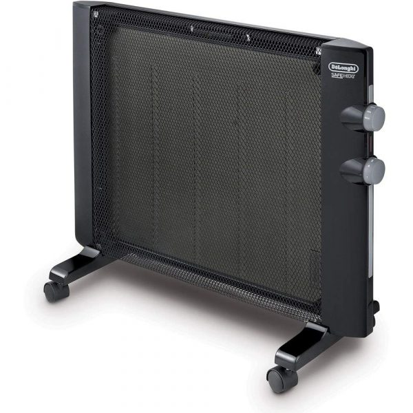A micathermic panel heater is a space saving electric heater option for motorhomes and travel trailers