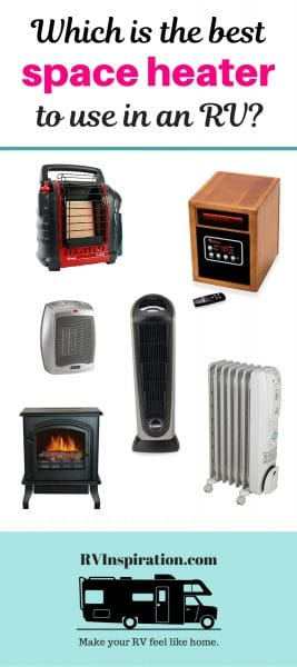 Guide comparing the most popular space heaters used by RV owners. | #rv #fulltimerv #rvcamping #rvlife