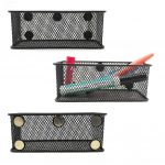 Magnetic mesh caddy for organizing camper