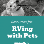 Resources for RVing with Pets Pinterest Image