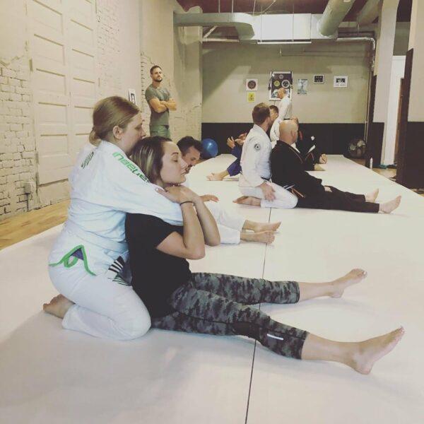 Ashley in Jiu Jitsu Class