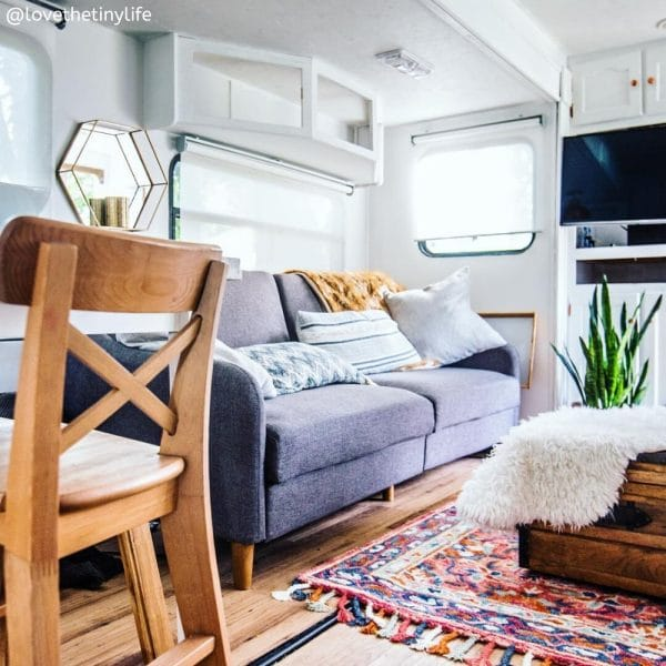 LoveTheTinyLife remodeled fifth wheel RV