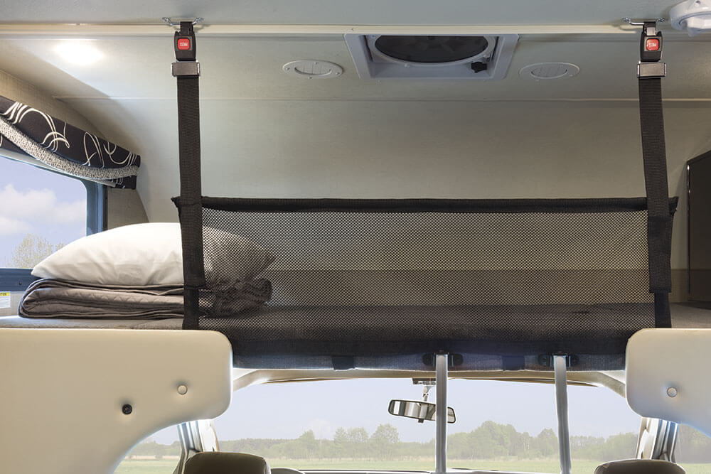 Motorhome Bunk Safety Net from OrganizedObie.com