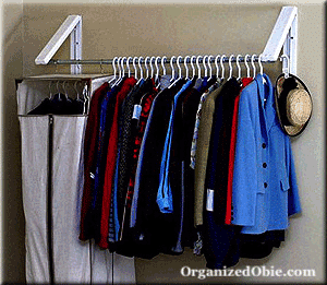 Extra clothing storage for RV