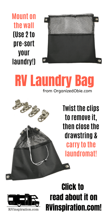 Mountable RV Laundry Bag