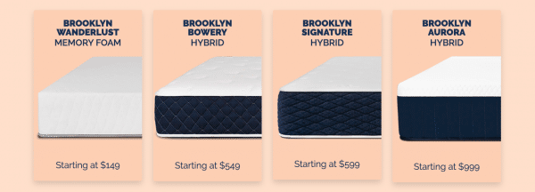 Brooklyn Bedding Mattress Options