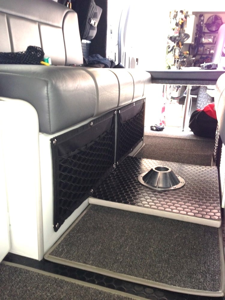 Gear net on RV dining booth