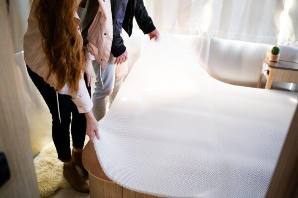 HyPUR-FLO moisture barrier to prevent condensation under RV mattress