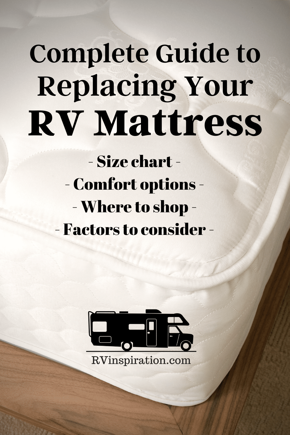 Where to Buy an RV Mattress Pin Image