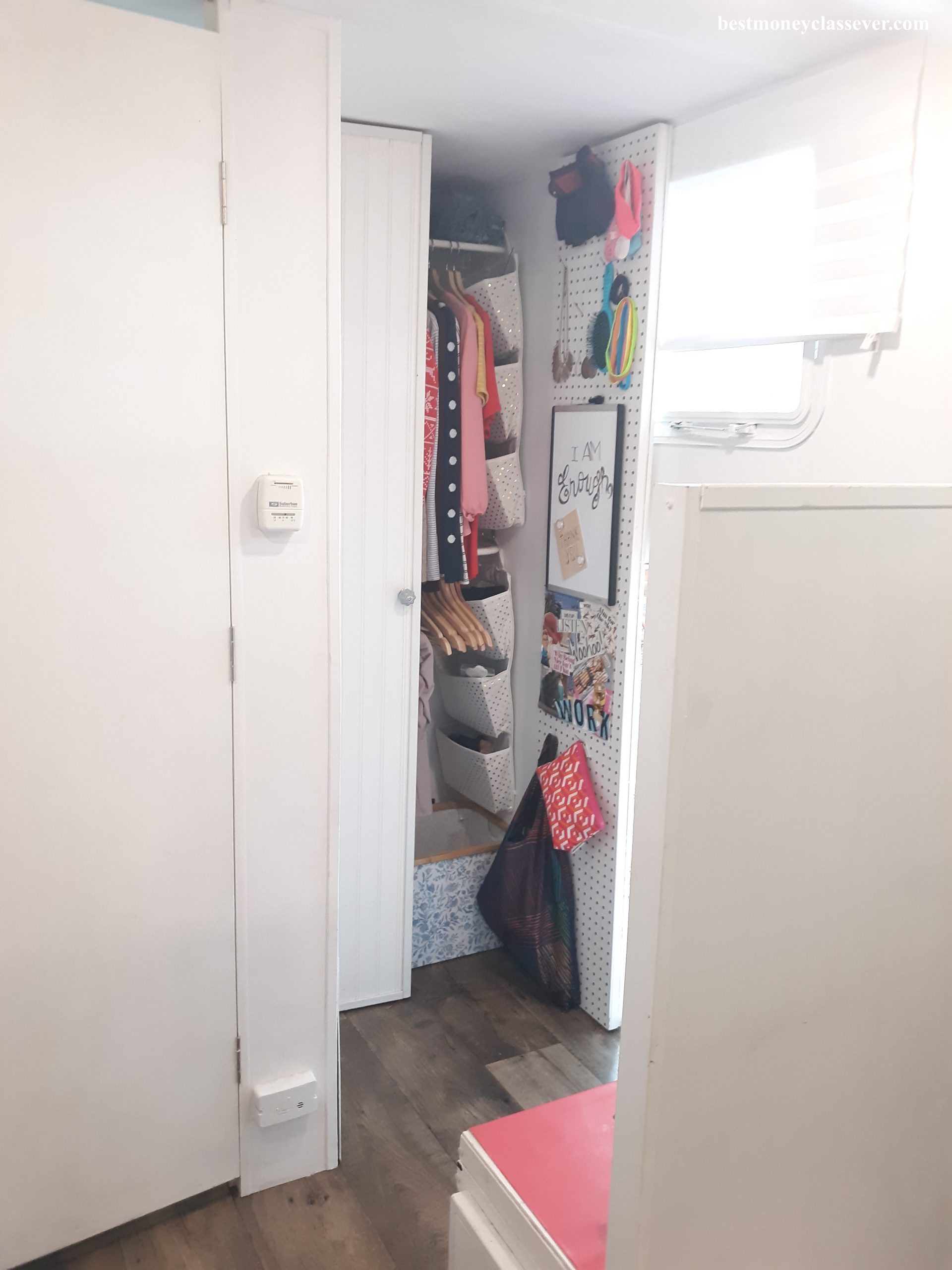 The completed closet