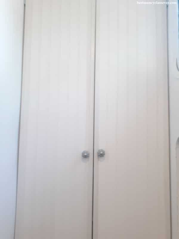 Outside view of closet doors