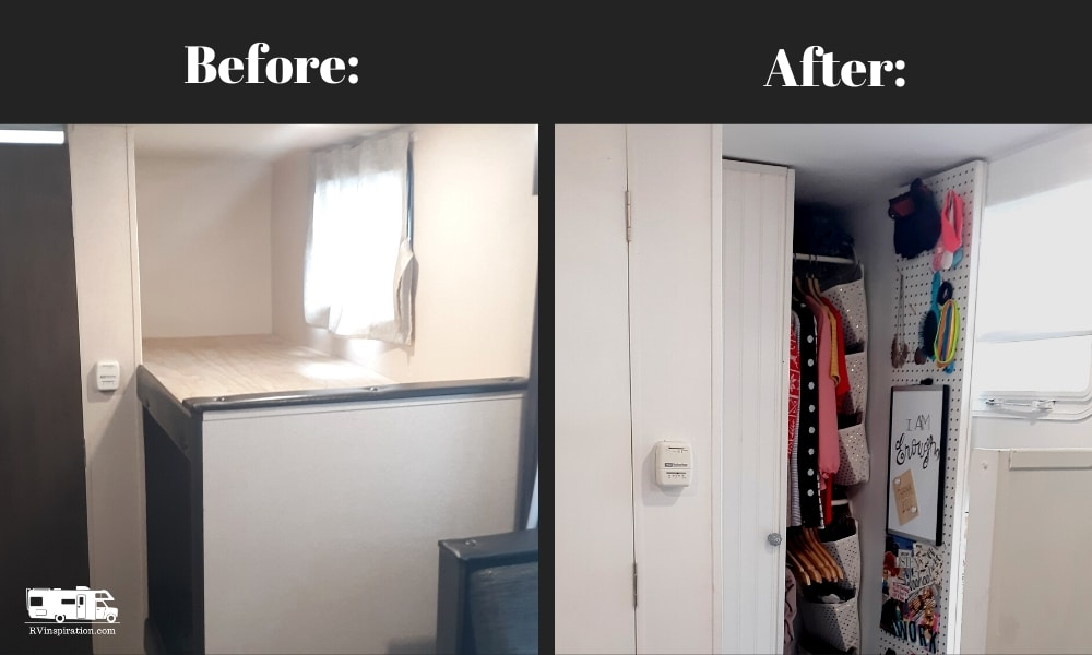 DIY RV Closet Before and After