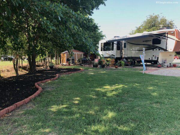 Campsite landscaping ideas