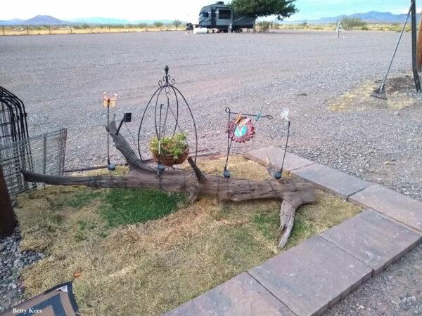 Campsite landscaping decorations