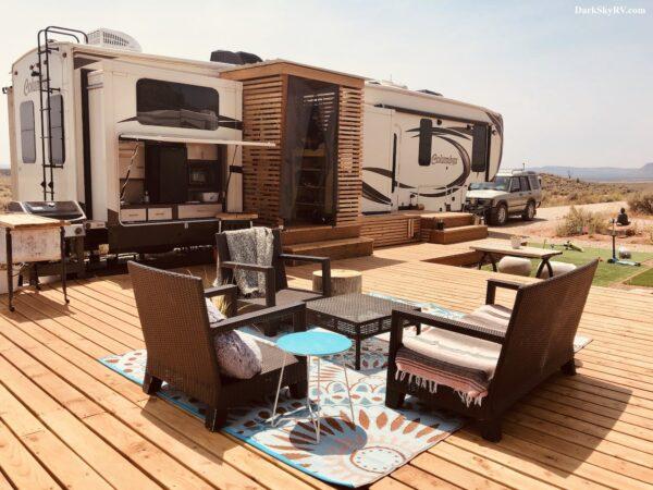 Permanent RV campsite landscaping ideas