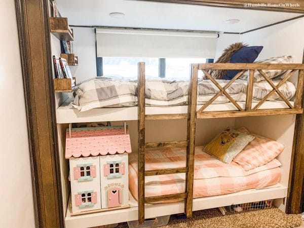 Bunk Beds Built in an RV Slide