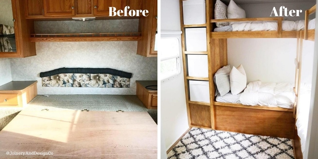 Converting RV master bedroom to bunk room