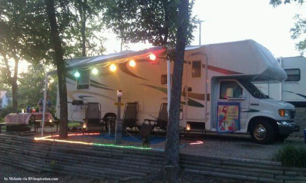 Campsite setup idea - lights
