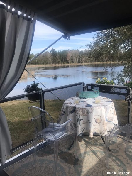 RV with covered porch