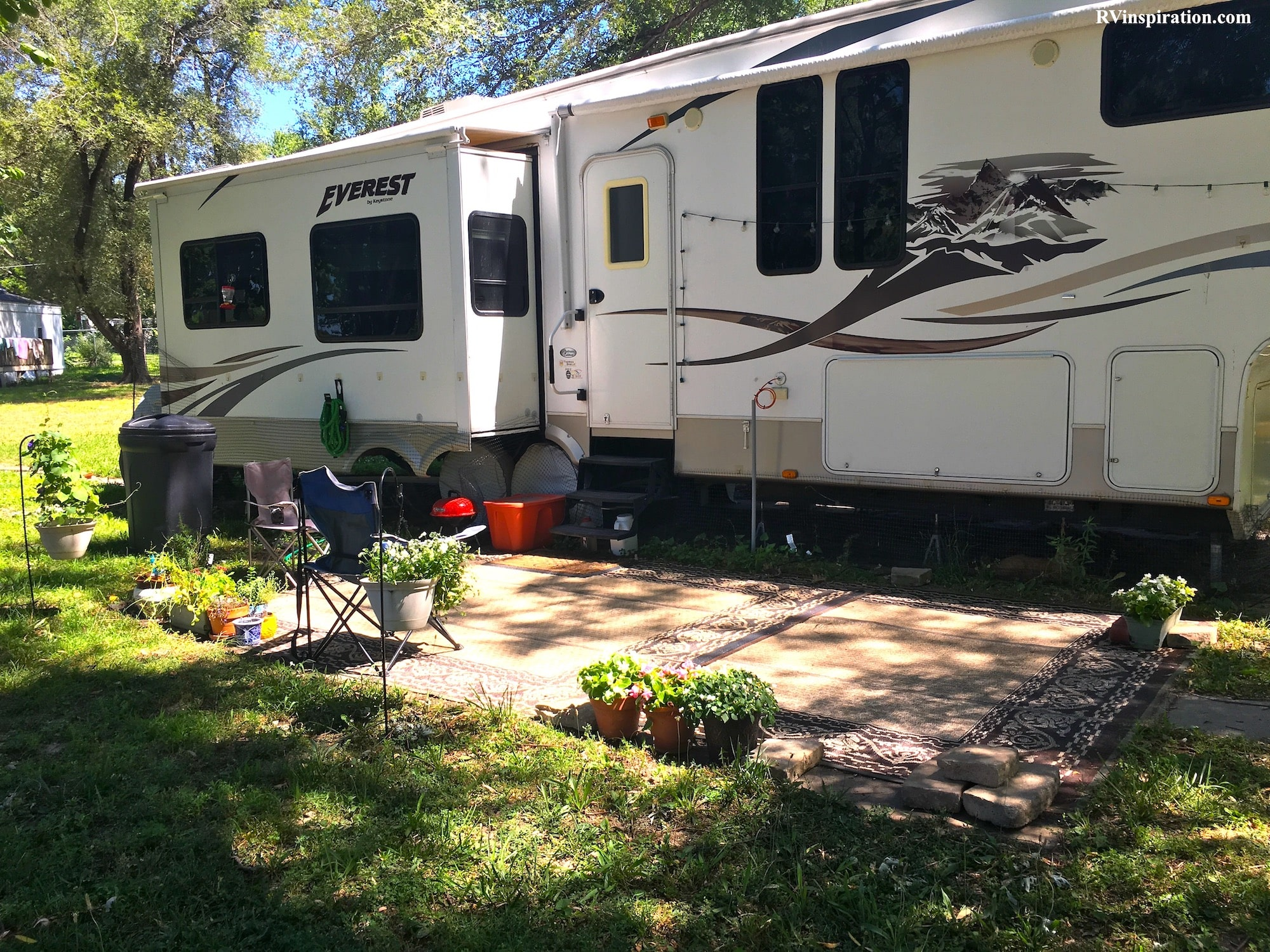 RV patio setup ideas