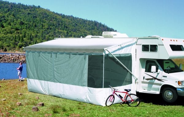 Screened-in RV awning