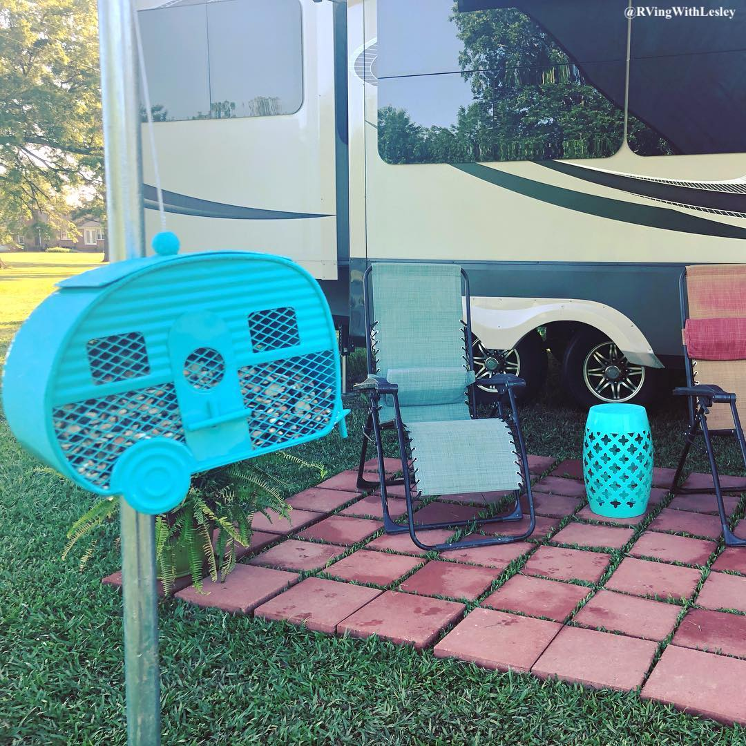 RV patio decor