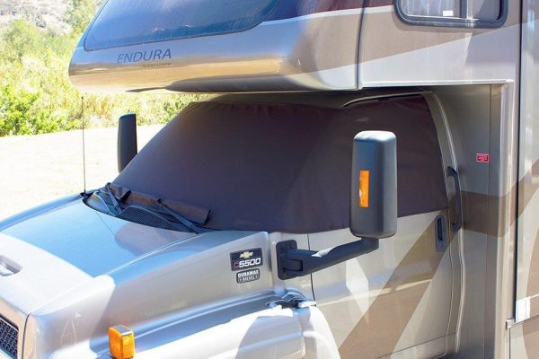 Shade for RV windshield