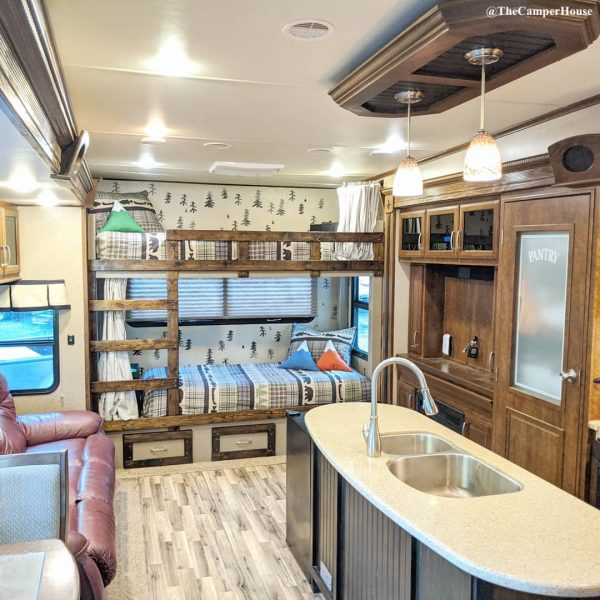Bunk beds built in a fifth wheel RV