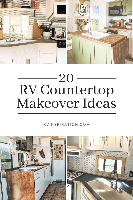 20 Rv Countertop Makeover Ideas Rv Inspiration