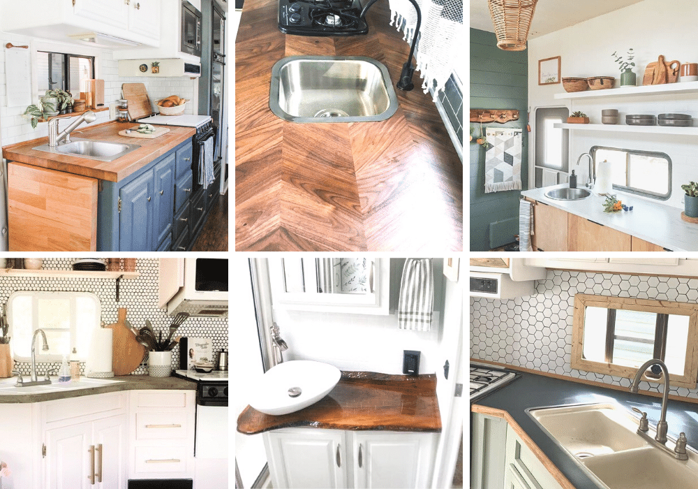 20 RV Countertop Makeover Ideas