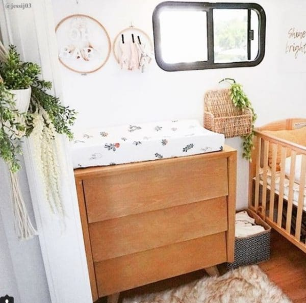 Residential furniture used in RV nursery