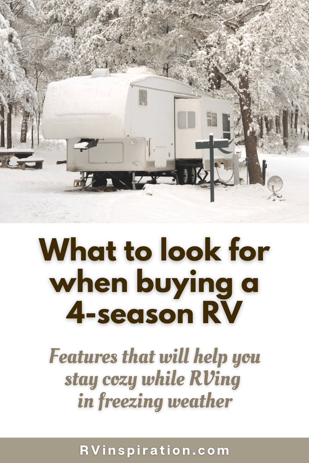 Four Season RV Features Pin Image